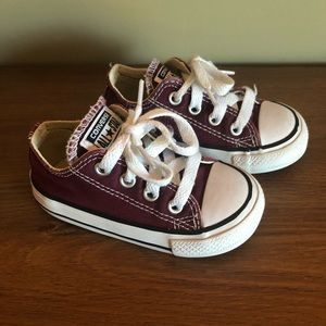 Converse Toddler Burgundy Sneakers